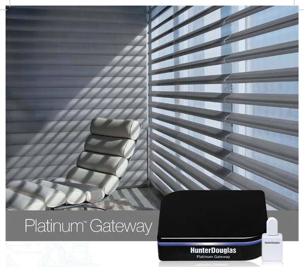 Hunter Douglass Platinum Gateway Motorized Window Shade System