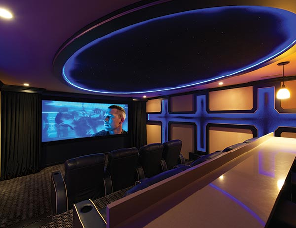 Basement Goes from Playroom to Palatial Home Theater