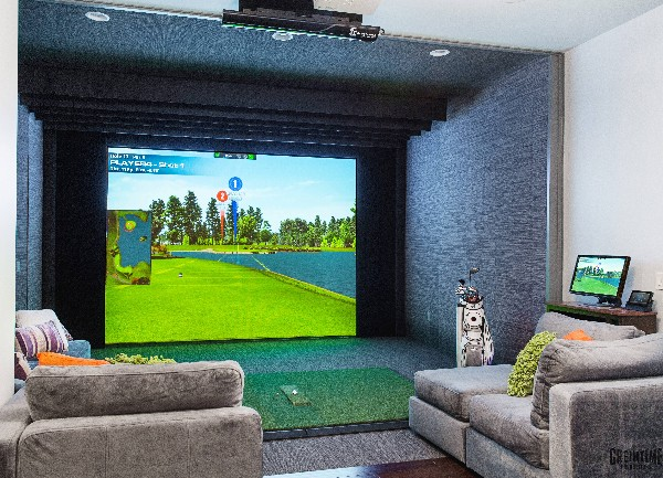 Golf Simulator and Movie Room