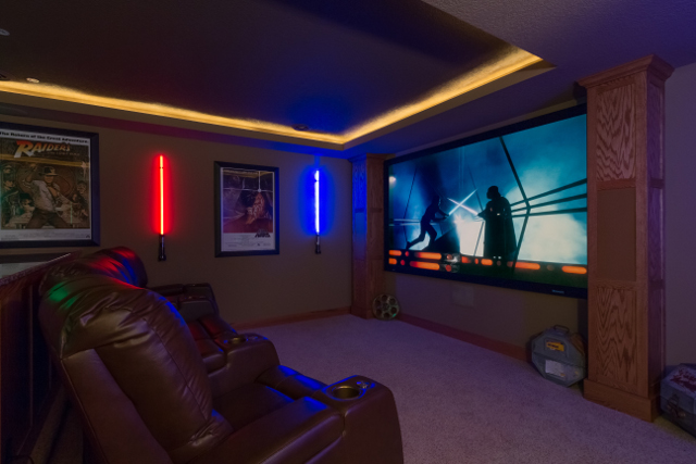 Light Sabers Salute Visitors to Star Wars Home Theater