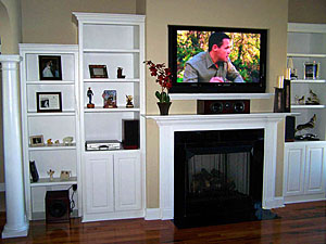 plasma mounted over fireplace offers clean look avs