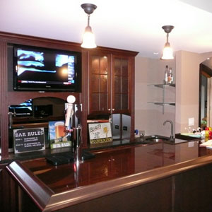"Cool Homes: Media Room, Bar Remodel Sport Almost 100"" of TV"
