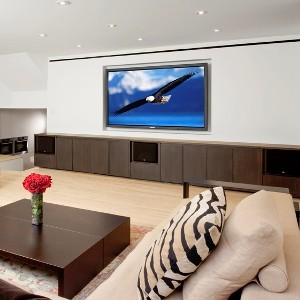 A modern home theater