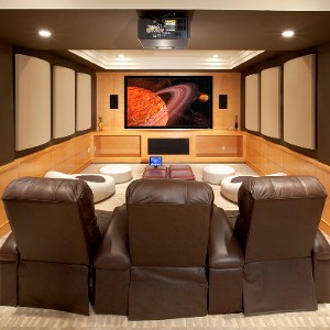 Cool Homes: Multiuse Media Room Includes Projector and Flat Screen ...