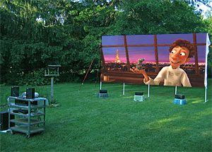 Bon DIYer Makes Monster Screen For Backyard Theater   AVS Forum | Home Theater  Discussions And Reviews