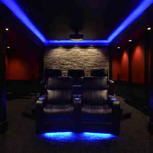 Eye Catching Design Elements Enhance The Home Theater S