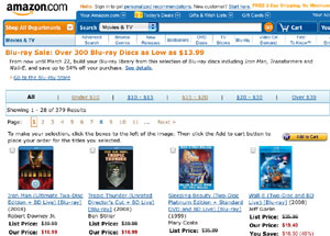 amazon bluray sale