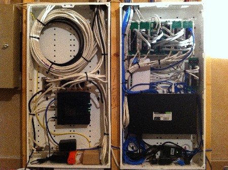 Diy ethernet cabling house