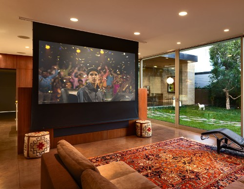 Drop Down Screen Converts TV Room To Theater EH Network
