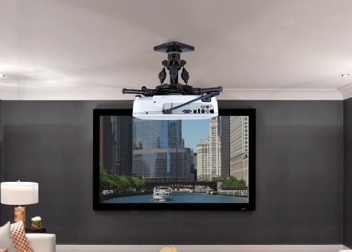 Omnimount Pjt40 Ceiling Projector Mount Helps Straighten Your Home Theater S Picture