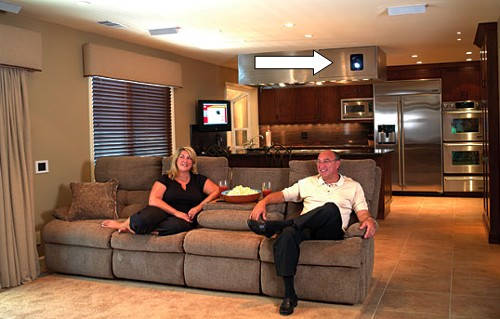 Home theater projector tips for multipurpose rooms for Multi purpose living room ideas