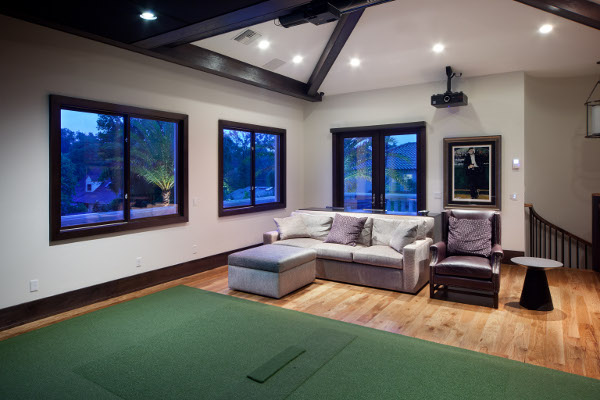 Golf Movies Share Space In Doubly Fun Home Theater EH