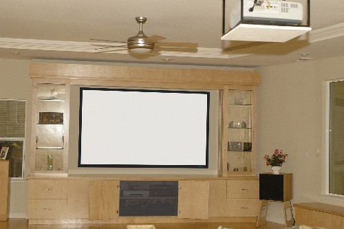 Home theatre projection screen sizes