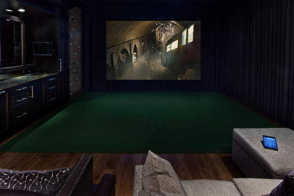 Golf in home theater