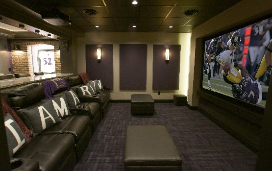 Ravens Man Cave Ideas : Ravens theme home theater ready for a repeat eh network