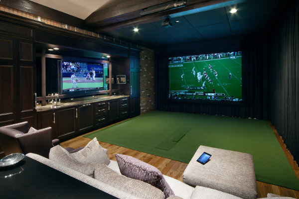 Golf Movies Share Space In Doubly Fun Home Theater