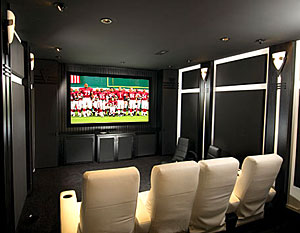 A High Tech, High Contrast Home Theater