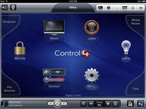 Control4 My Home iPad App