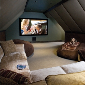 Slideshows: Attic Makes Room for Theater, Pool Table, by Steven ...