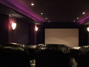 Media room color schemes home design elements Home theater colors