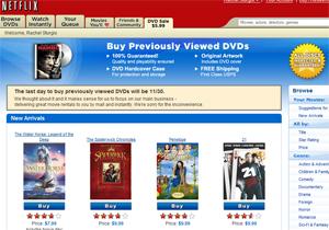 Netflix DVD Sales
