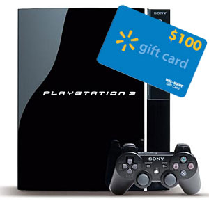 PS3 40GB with Gift Card