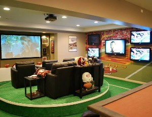 Nfl 39 S Super Fan Man Cave Has 7 Screens Eh Network