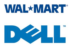 Wal-Mart Dell Logos